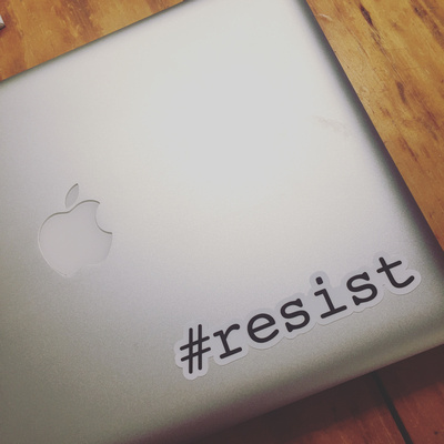 #resist sticker die-cut laptop